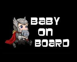 Thor Baby on Board Sticker