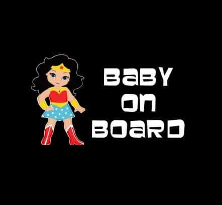 Wonder Woman on Board Sticker