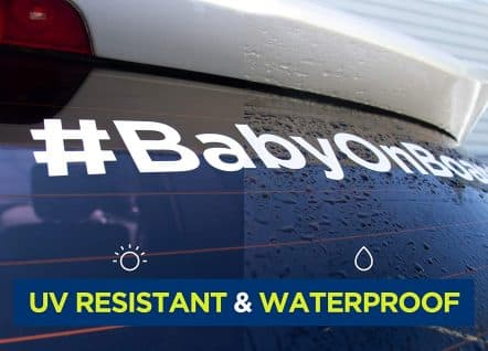 Baby on Board Hashtag Decal