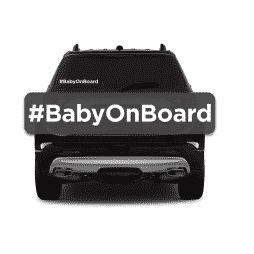 Hashtag Baby on Board Sticker