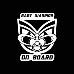 Baby Warrior on Board Sticker