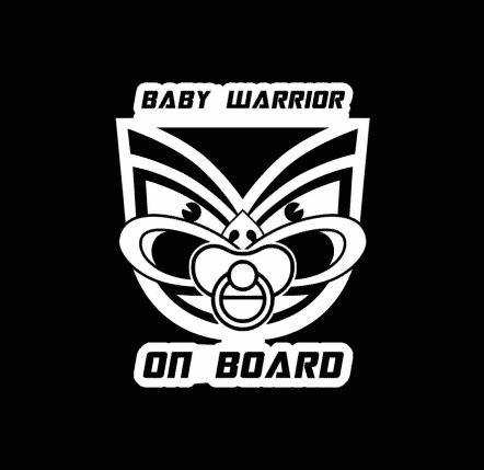 Baby Warrior on Board Sticker