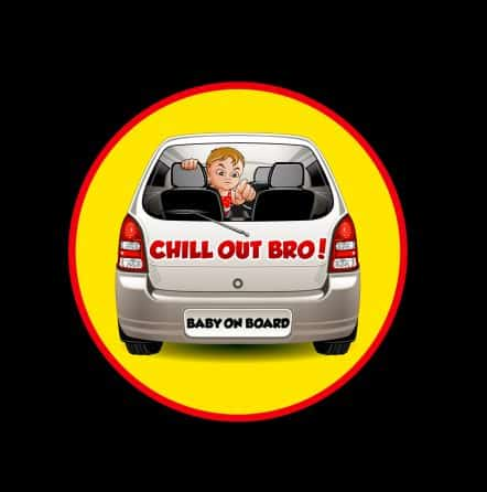 Chill Out Bro Baby on Board Sticker