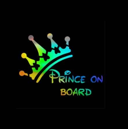 Holographic Prince on Board Sticker