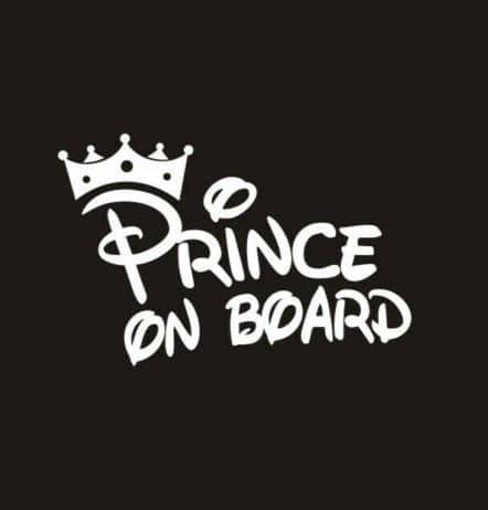 Prince on Board Sticker