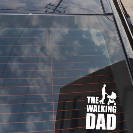 The Walking Dad Car Sticker