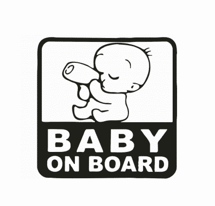 Baby with Bottle on Board