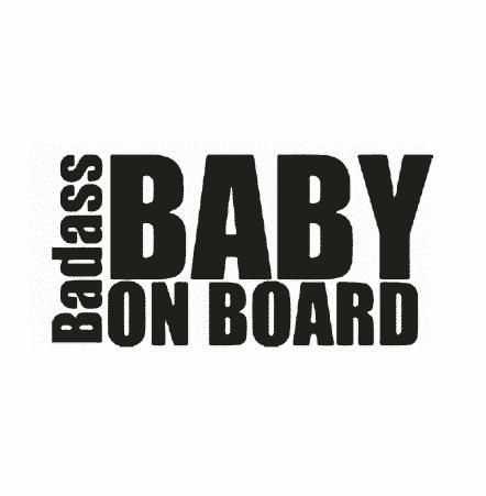 Badass Baby on Board Sticker