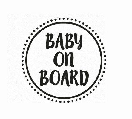 Circular Baby on Board
