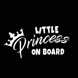 Little Princess on Board Sticker