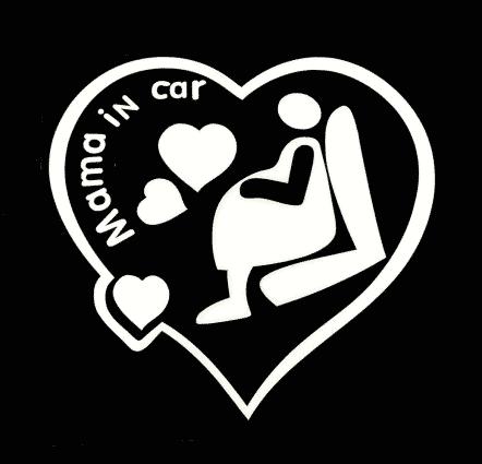 Mama in Car Decal