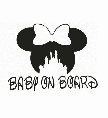 Minnie Bow Baby on Board