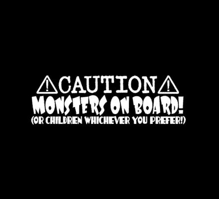 Monsters on Board Sticker