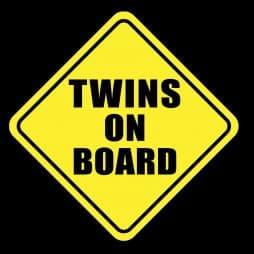 General Twins On Board Sticker