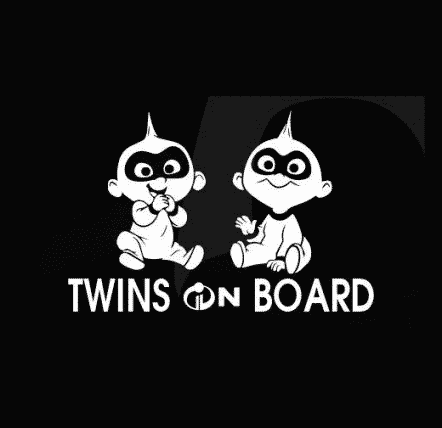 Incredibles Twins On Board Sticker