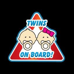 Twins with Nipples Warning Sticker