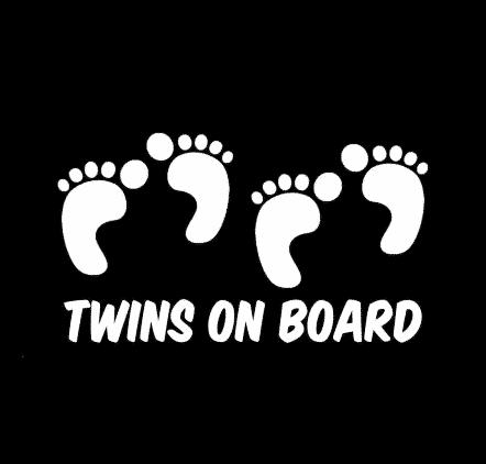Twins On Board Footprints